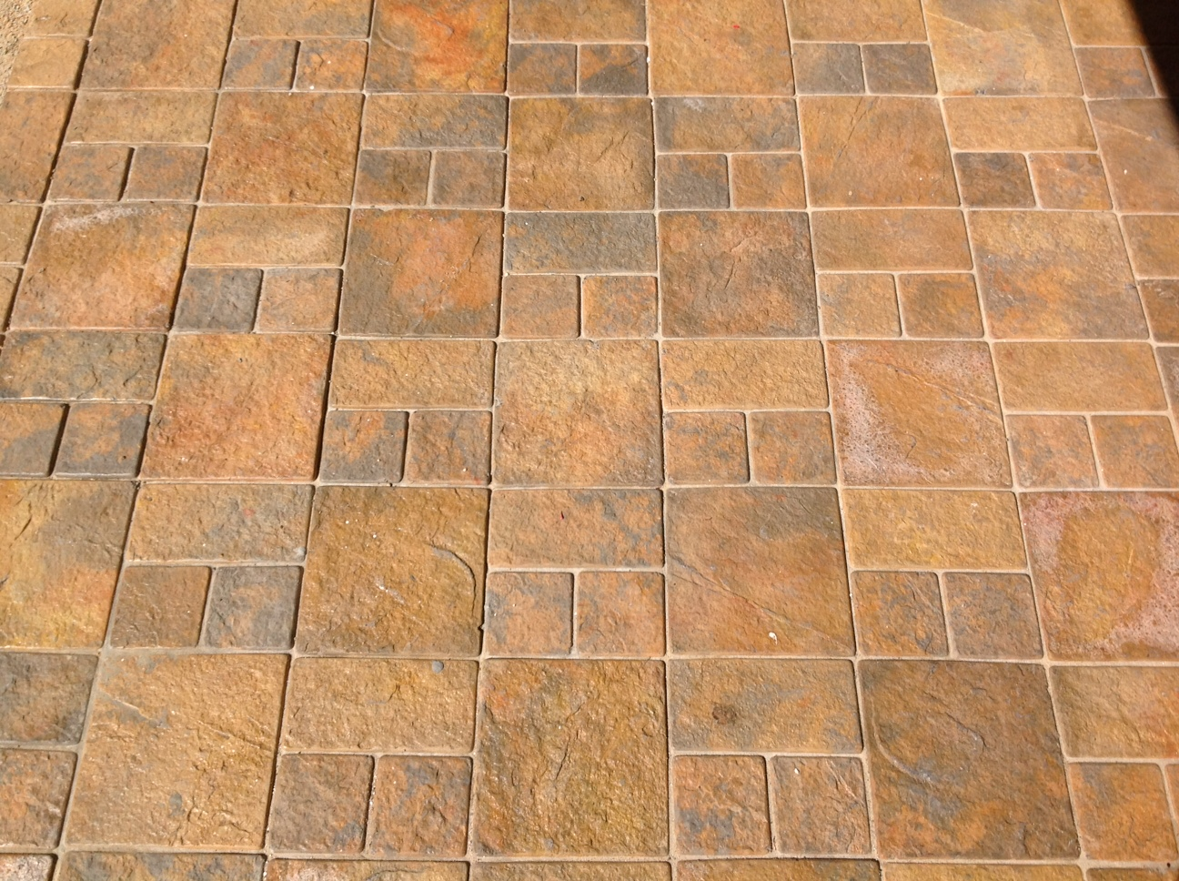 3 size cobble paving