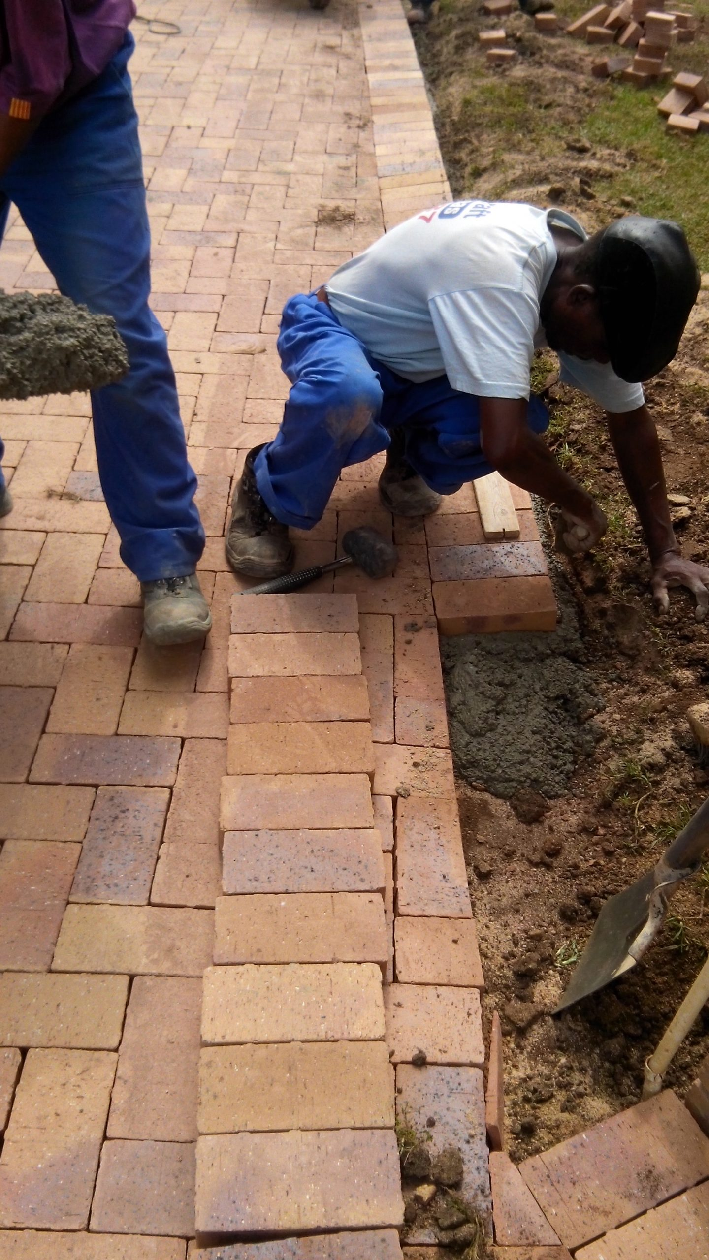 Repairs to a damaged driveway.